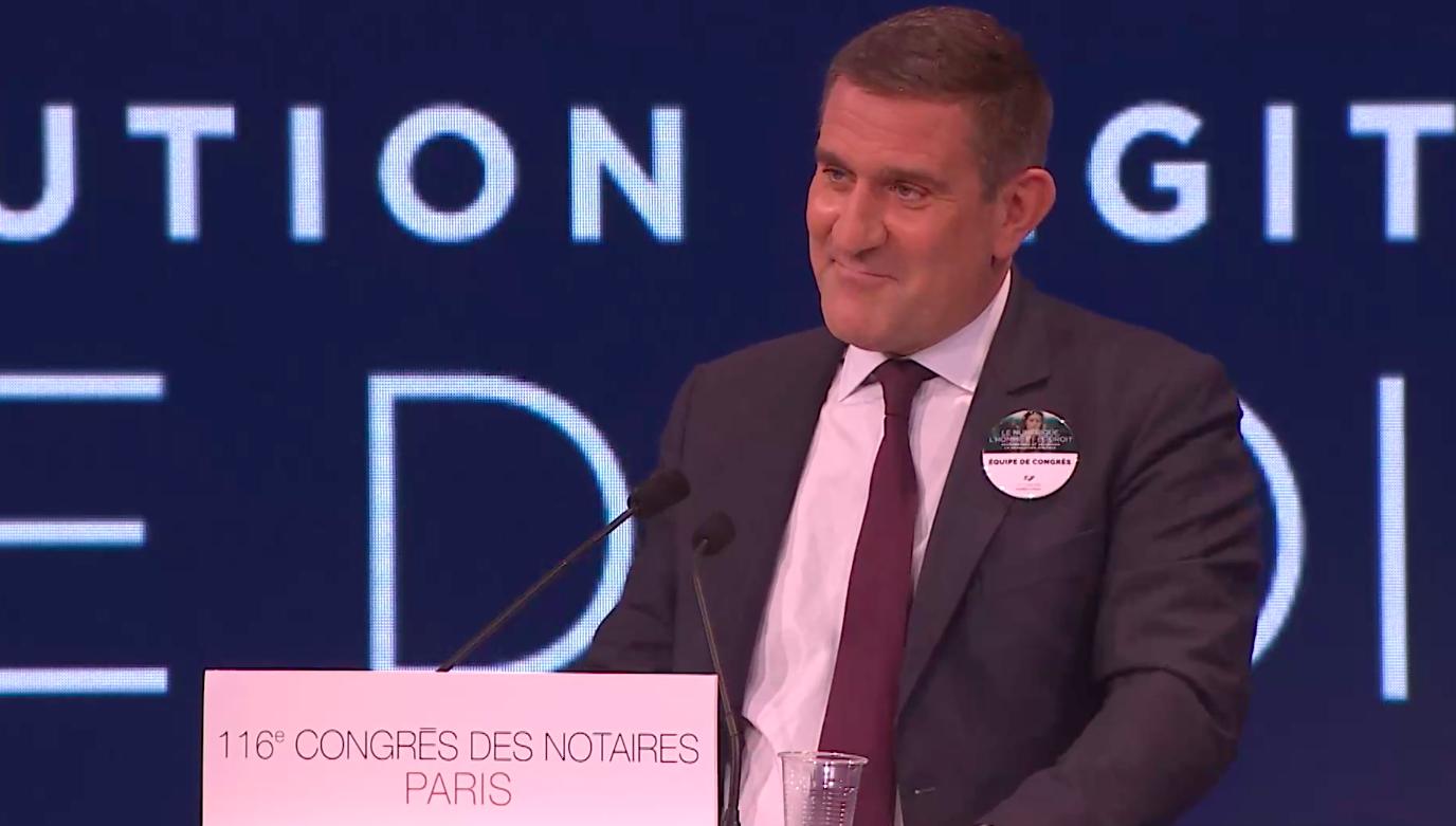 Olivier Herrnberger présente le thème du 117 ème congrès des notaires de France